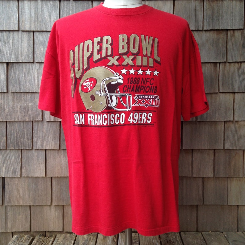 80s vintage San Francisco 49ers Super Bowl XXIII T shirt  d7b188634