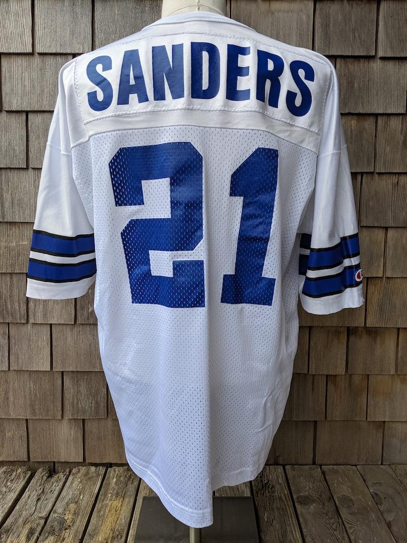 new arrival 0cd9d 5b015 90s vintage Deion Sanders Dallas Cowboys #21 jersey / Champion / 48 XL /  Prime Time