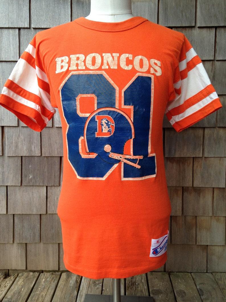 promo code 953ad 45c55 80s vintage Denver Broncos jersey T shirt / Champion / Small