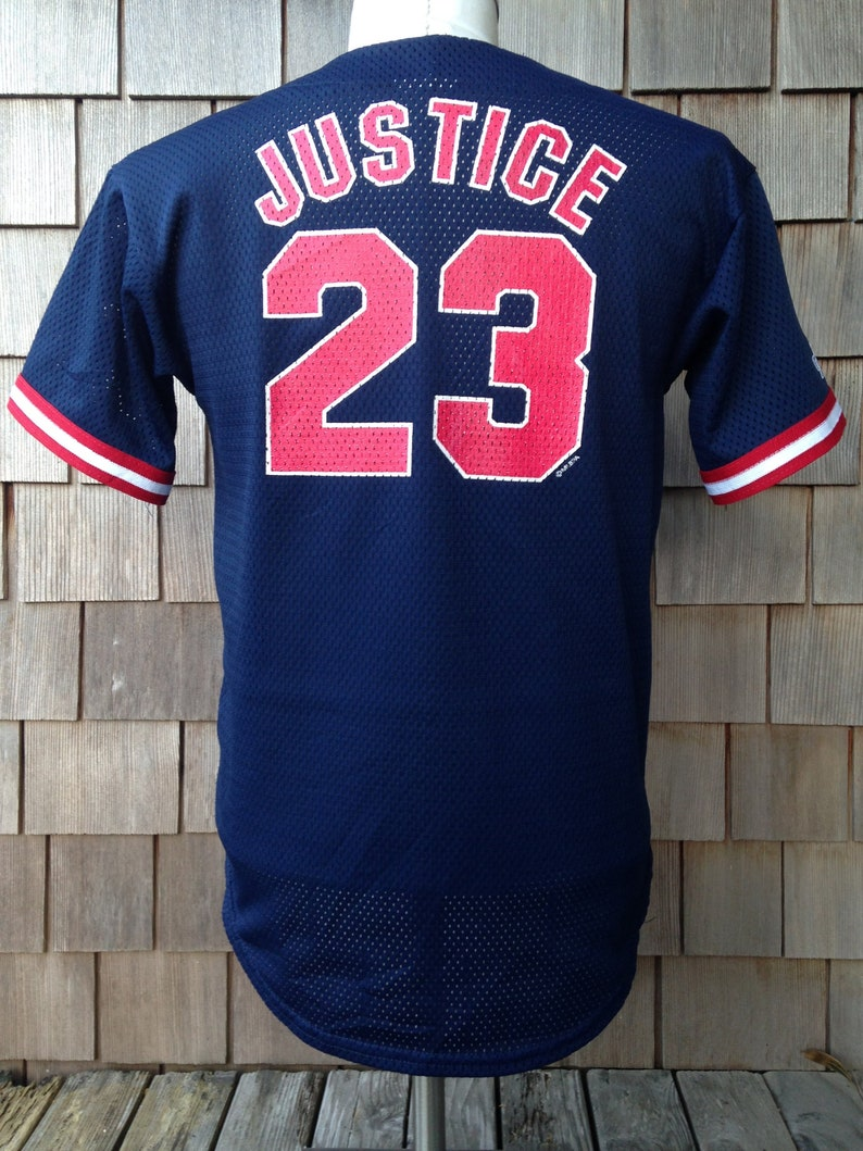 brand new 29589 c9410 90s vintage David Justice Cleveland Indians jersey / Majestic / Small / MLB  baseball