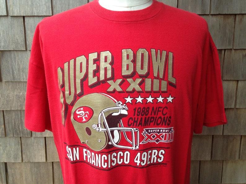 9c714b924 80s vintage San Francisco 49ers Super Bowl XXIII T shirt