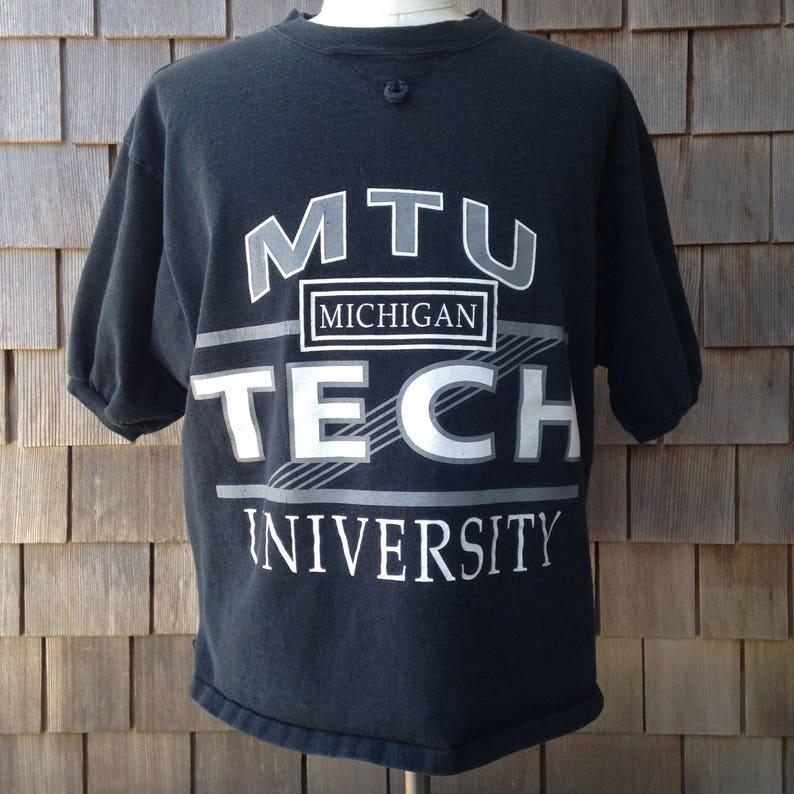 new product eff0d 430ce Vintage 90s Michigan Tech University Huskies T Shirt / XL / MTU