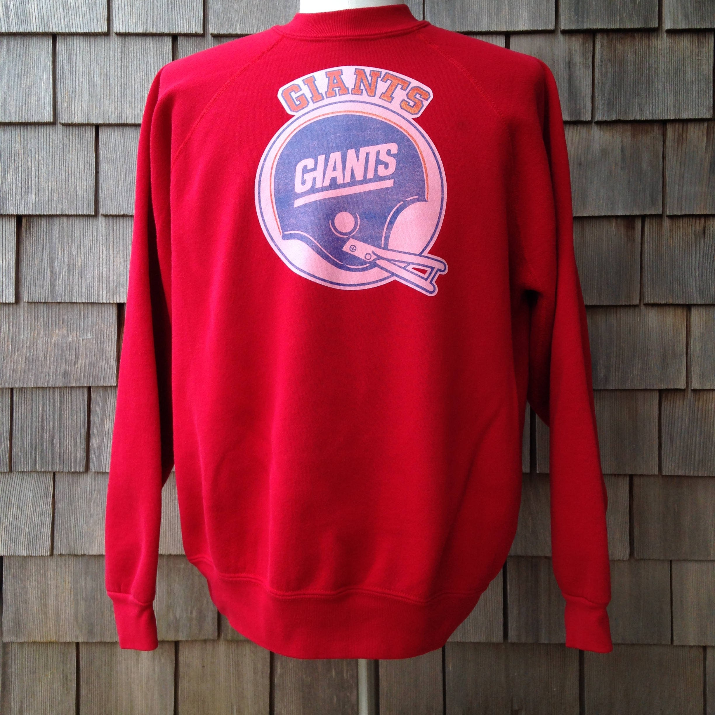 80s vintage New York Giants sweatshirt XL iron on | Etsy