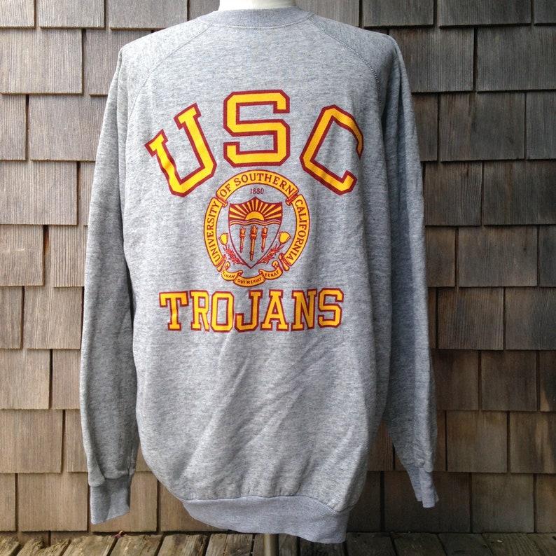 finest selection f2eba 0ba95 80s vintage USC Trojans sweatshirt / quad blend / XXL / 2XL / University of  Southern California