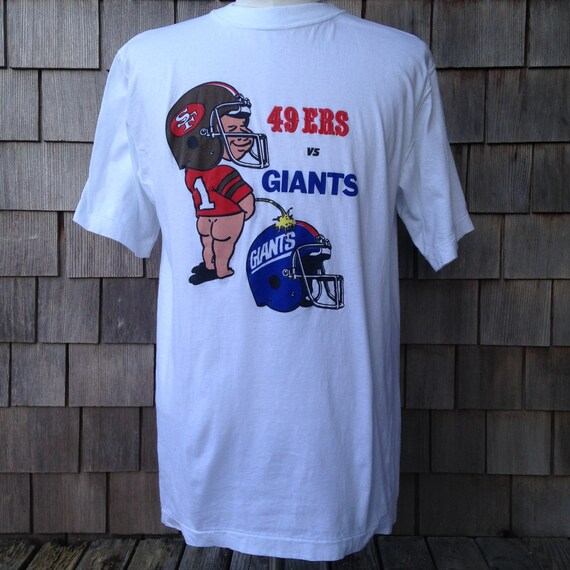80s 90s vintage San Francisco 49ers v. New York Giants T shirt  c3a2a4207