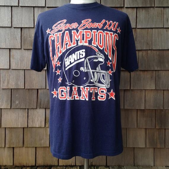 95dbcf4c6 Vintage New York Giants Super Bowl XXI Champions T Shirt