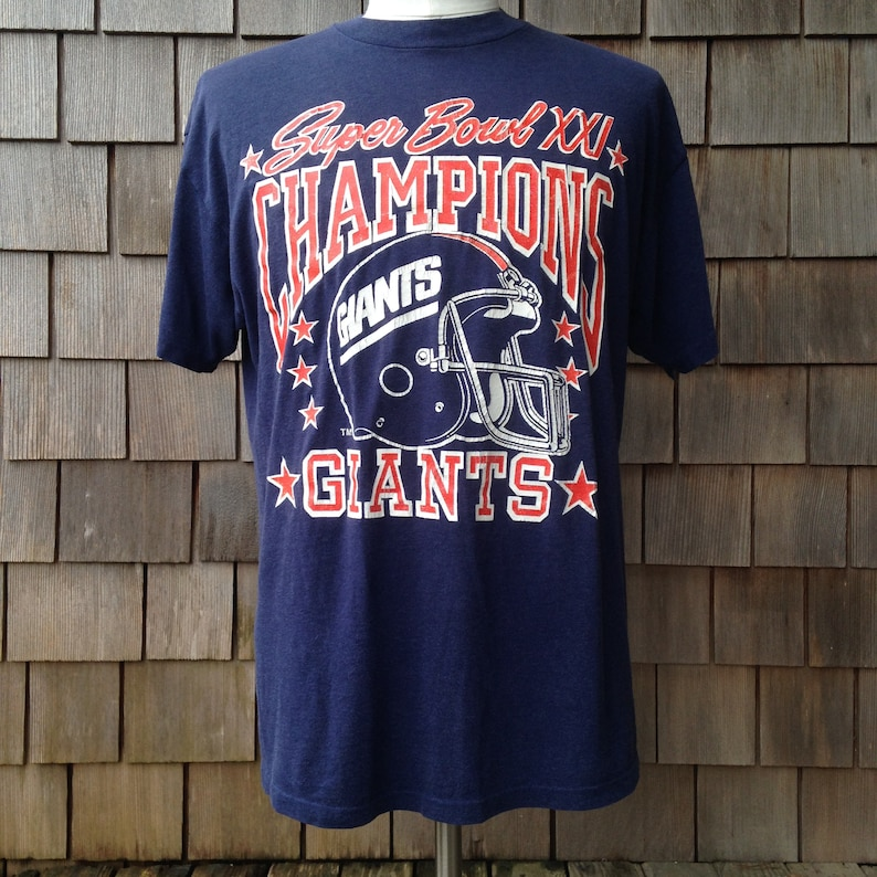 Vintage New York Giants Super Bowl XXI Champions T Shirt  0d9b7bcb3