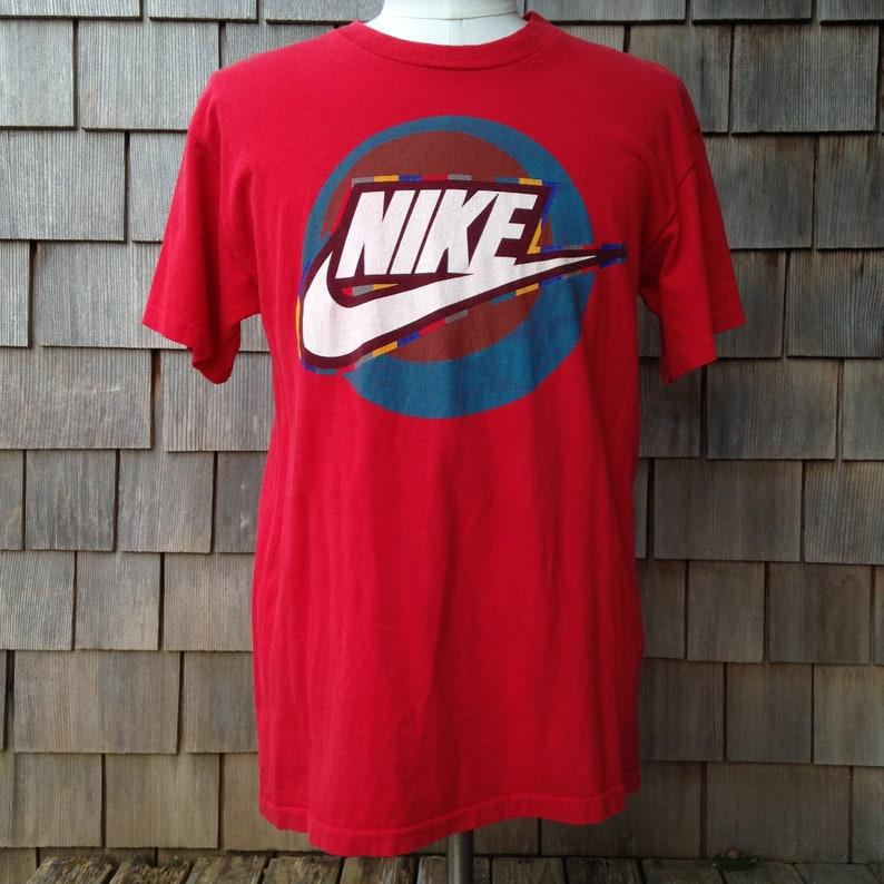 ea26a9d96659a 90s vintage Nike T shirt - grey tag - Medium - big logo - Made in the USA