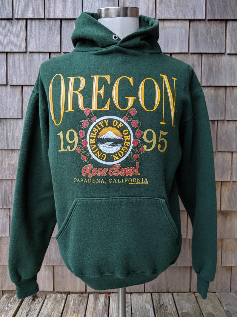 quality design 45085 3a448 vintage Oregon Ducks 1995 Rose Bowl hooded sweatshirt / Medium / University  football hoodie