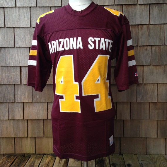 new style 0d711 7cd27 Vintage 80s ARIZONA STATE Sun Devils Authentic Football Jersey #44 by  Champion - Small - University