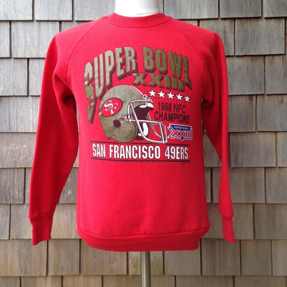 80s vintage San Francisco 49ers Super Bowl XXIII sweatshirt  95a5b9c26