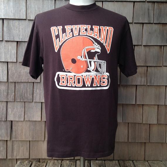 58024fed 80s vintage Cleveland Browns T shirt Medium / Large Logo 7   Etsy