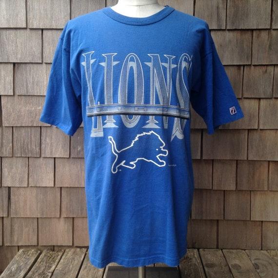 online retailer 02236 a5c97 90s vintage Detroit Lions T shirt - Large - Logo 7 - NFL football
