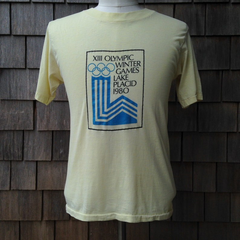 d70c7cb1e74 Vintage 1980 Lake Placid XIII Olympic Winter Games T shirt