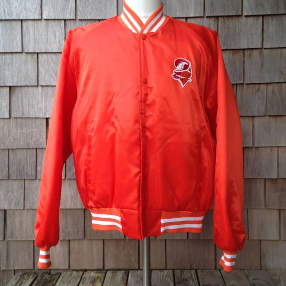 1e90a5ff 80s vintage Tampa Bay Buccaneers satin jacket by Chalk Line - Large - Bucs
