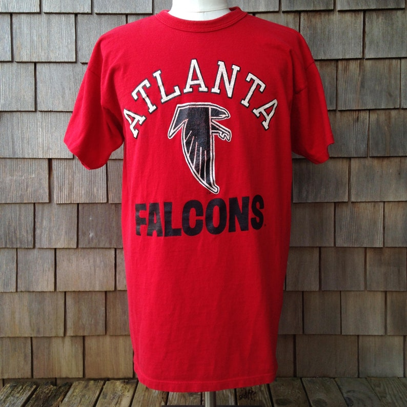 the best attitude 3238d e8770 80s vintage Atlanta Falcons T Shirt by Champion - Large / XL