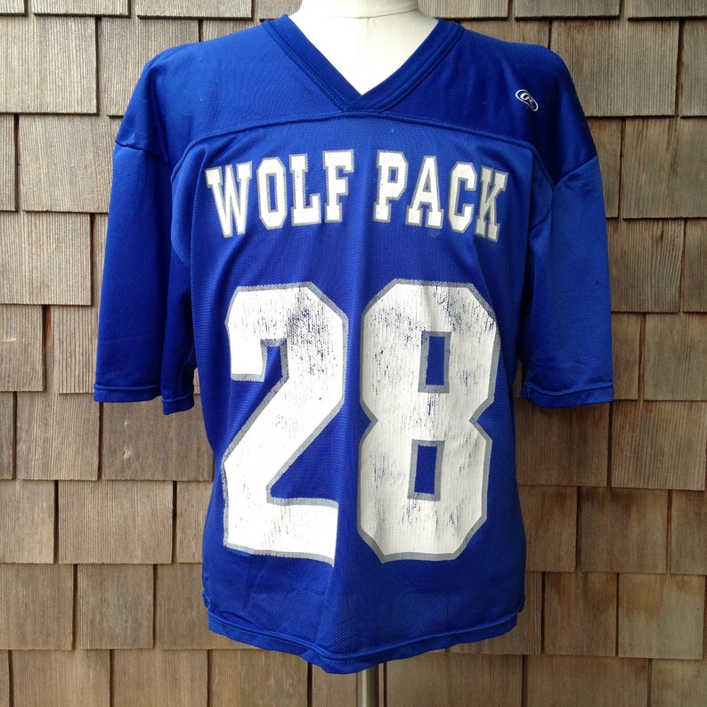 more photos c1739 bad9d 90s vintage Nevada Wolfpack football jersey / Rawlings / crop top / Medium  / University / distressed