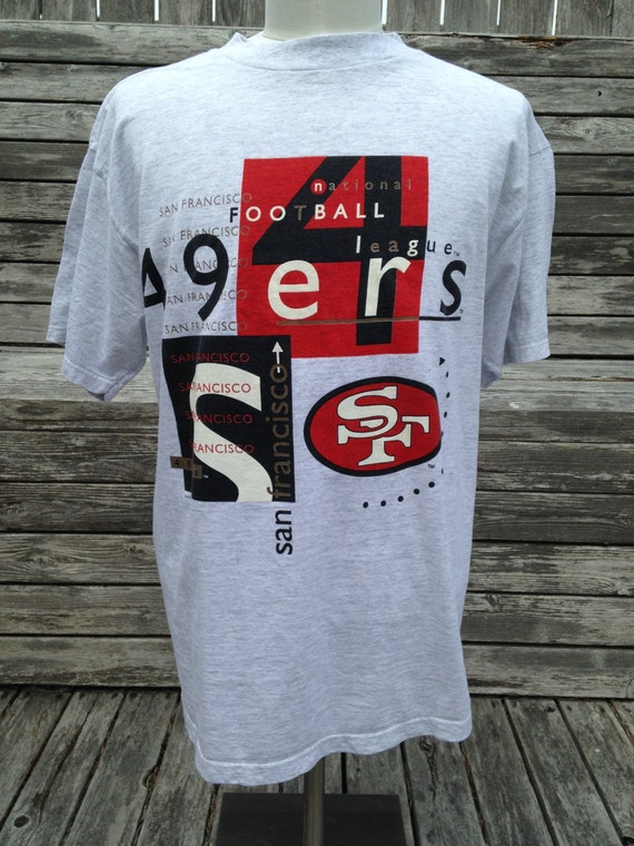 new arrival 373a7 62ac1 Vintage 90s SAN FRANCISCO 49ers T Shirt - XL - 1995 Logo 7