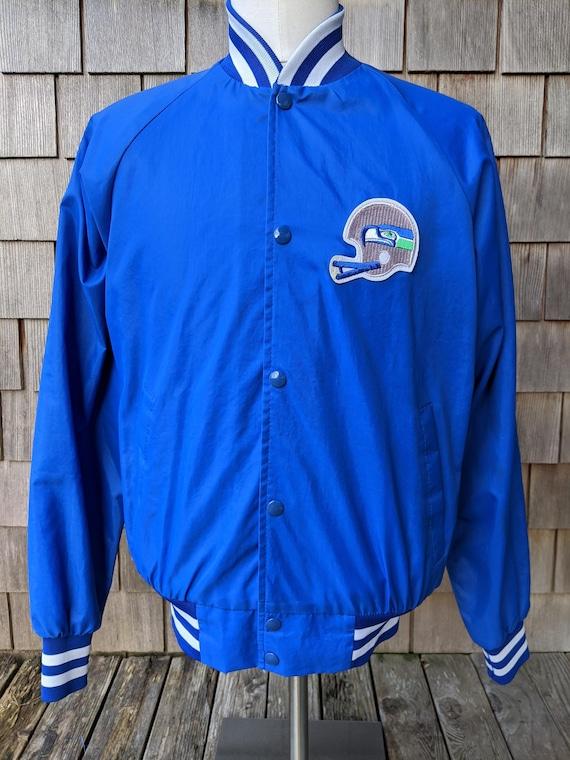80s vintage Seattle Seahawks nylon snap jacket / M