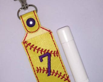 Softball Lip Balm Holder - Team Gifts - Sports Gifts - Softball - Softball Mom - From The Stands - From The Stands We Cheer - Sports