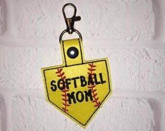 Softball Key Chain, Mound, Softball Gym Bag Tag - Sports Bag Tag - Team Gift - Tennis Bag Tag - Basketball Bag Tag-Sports Team Gift