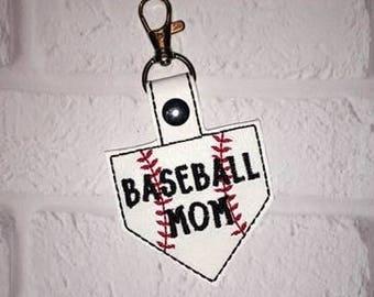 Baseball Mound Key Chain, Baseball keychain- Sports Tag - Mother's Day gift