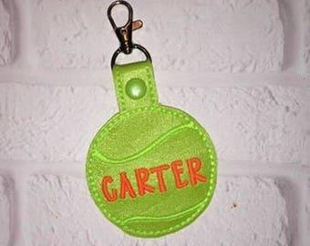 Tennis Key Chain - Tennis keychain Gym Bag Tag - Sports Bag Tag - Team Gift - Golf Bag Tag - Basketball Bag Tag - From The Stands