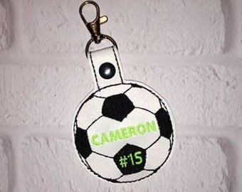 Soccer Key Chain - Stocking Suffer - Sports Bag Tag - Team Gift - Golf Bag Tag - Tennis Bag Tag - Bag Tag  - MVP - VIP - From the stands