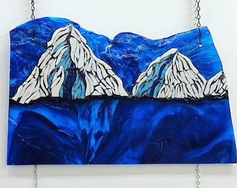 Ice Islands Stained Glass Sun Catcher