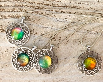 Water Color and Stained Glass Necklaces
