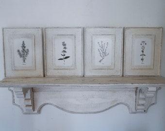 Botanical Herb Prints Set of Four, vintage botanical prints,botanical prints, farmhouse decor,garden prints, herb prints