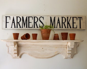FARMERS MARKET SIGN farmhouse signs,vintage style signs, hand painted signs, distressed signs