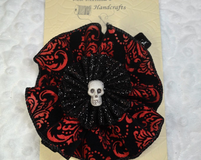 Halloween Black & Red Headband, Baby Headband, Girl Headband, Headband - Free Shipping