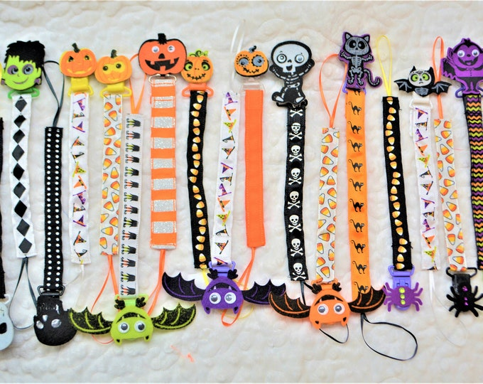 Halloween Pacifier Clip, Binky Holder, Paci Clip - Free Shipping