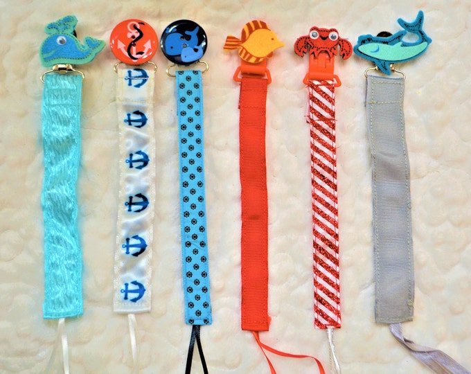 Sea life, Nautical, Binky Clip, Paci Clip