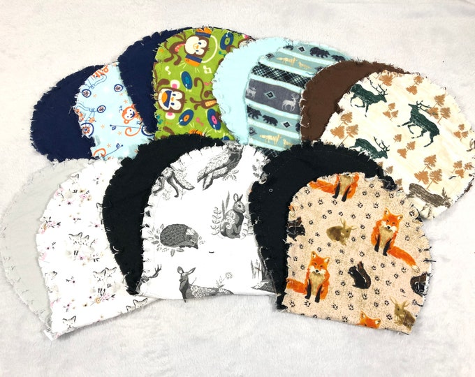Flannel Burp Cloths, Hourglass Burp Cloths - Free Shipping!
