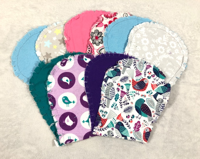 Girl Flannel Burp Cloths - Pick Your Set - Hourglass Burp Cloths - Free Shipping!