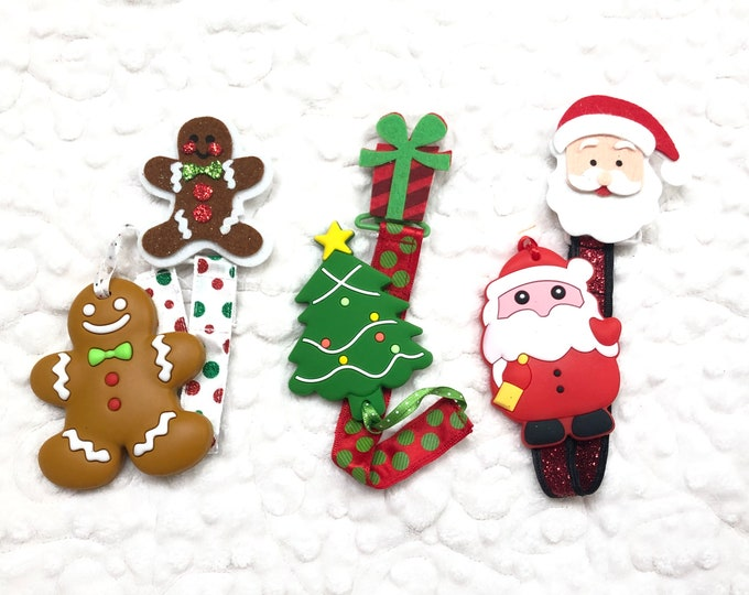 Christmas Holiday Silicon Teether with Clip - free shipping!