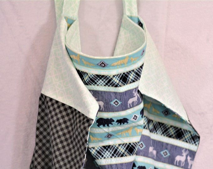 Reversible Nursing Cover - Woodland, Teal and Gray - Free Shipping!