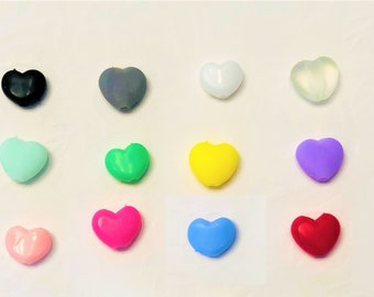 Heart Silicone Cord Adjuster/ Adjuster Stopper/ Cord Lock Toggle/ Cord Stopper for Elastic/ Face Mask --- FREE SHIPPING!