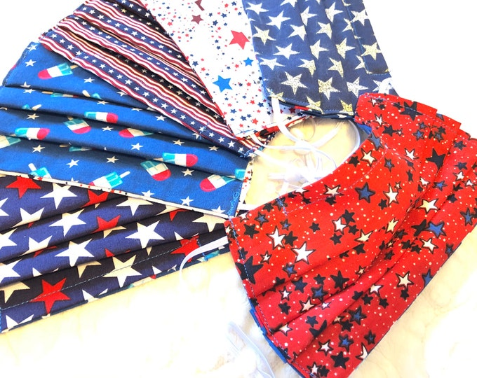 Patriotic Face Mask, Adult & Child size with adjustable strap