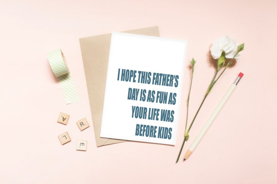 Funny Father Daughter Son Child Family Typography Quote Love Etsy