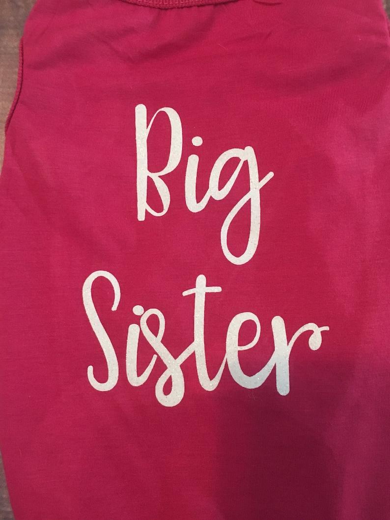 dog shirt Baby announcement shirt Custom Big Sister Dog Shirt shirts for dogs
