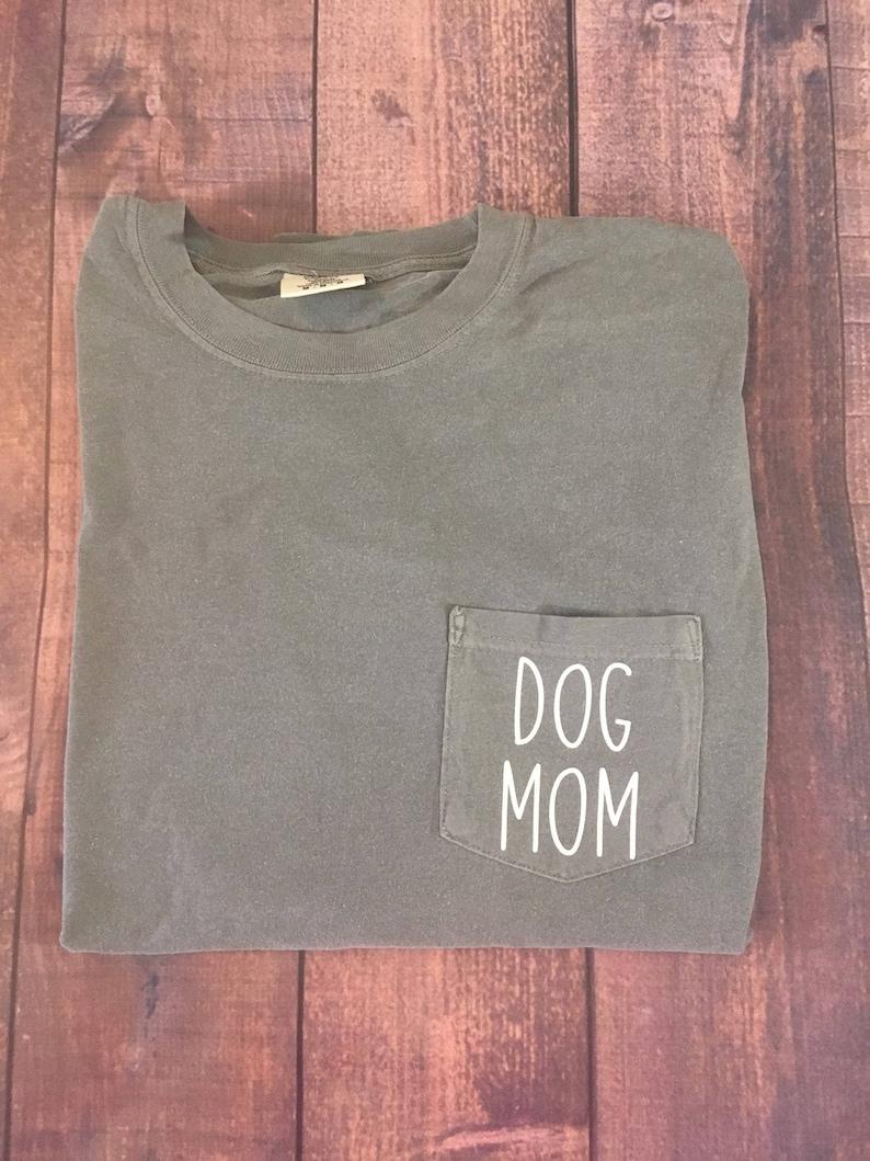 448baea0 Dog Mom Comfort Colors LONG SLEEVE shirt Custom comfort | Etsy