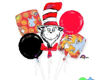 The Cat in the Hat - Dr. Seuss - Any Occasion Bouquet Of Balloons
