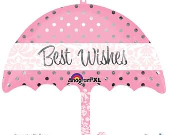 Meilleurs voeux parapluie ballon Mylar - jour de mariage, engagé, fête de fiançailles. Bridal Shower