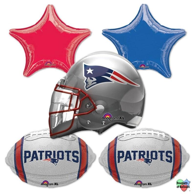 735b9024 NFL – New England Patriots – Bouquet Of Mylar Balloons - Patriots Super  Bowl Team Bouquet