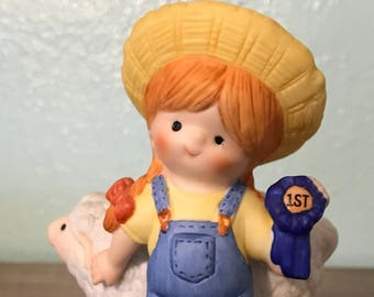 Enesco Country Cousins Figurine - Katie With 1st Place