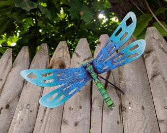 Charmant Blue Dragonfly Garden Home Decor Wall Art Mexican Metal Design