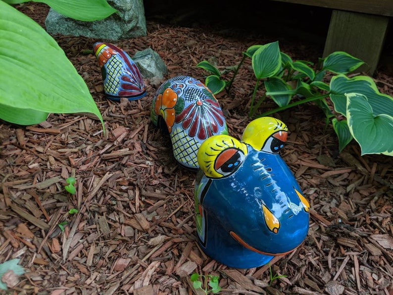 Garden Snake Outdoor Decor Whimsical Mexican Art Etsy